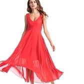 現貨L雪紡長裙無袖洋裝連身裙27508
