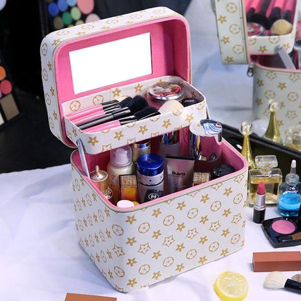 化妝包大容量便攜簡約韓國專業手提化妝箱雙層洗漱品袋收納盒男女【博雅生活館】