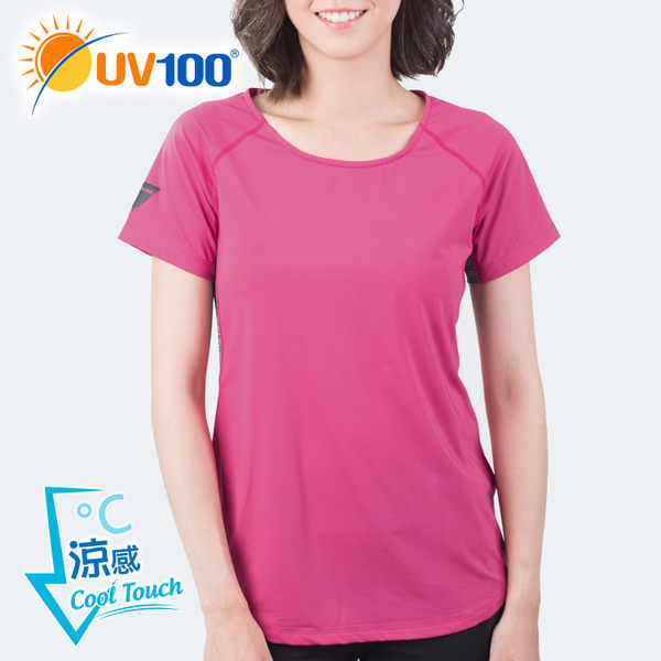 UV100 防曬 抗UV-涼感透氣彈力機能上衣-女