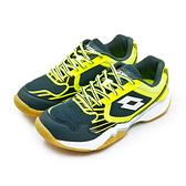 LIKA夢 LOTTO 專業透氣羽球鞋 APOLLO 阿波羅系列 灰螢黃 6915 女