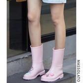 店長推薦★M夏季韓國時尚可愛防水鞋套鞋防滑雨靴中筒水鞋膠鞋成人雨鞋女~