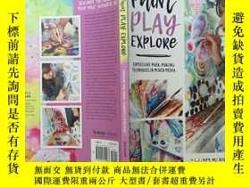 二手書博民逛書店水彩塗鴉塗色罕見Paint play explore:expre