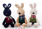 娃娃屋樂園~Le Sucre法國兔砂糖兔(格子圍巾款)45cm450元另有30cm60cm90cm120cm