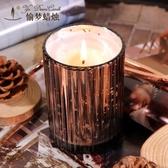 天然精油檀香蠟燭助眠香薰蠟燭香氛蠟燭杯熏香蠟燭無煙香味