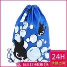 【現貨】梨卡 - 沙灘旅遊海島度假旅行用行李小物泳衣物品防水束口收納袋M100