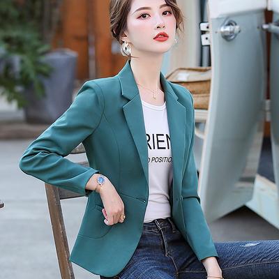 短款小西裝女外套春秋款韓版女士氣質收腰顯瘦修身休閒西服7183F062A紅粉佳人