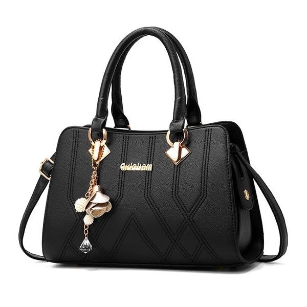 媽媽包包女士手提包簡約側背包時尚斜背包中年女包