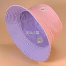 雙面漁夫帽女日系太陽帽子男韓版潮時尚百搭遮陽帽防曬紫外線