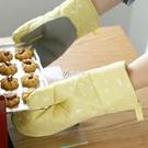 隔熱手套 居家布藝防燙手套加厚隔熱烤箱微波爐專用手套烘焙硅膠耐高溫防熱