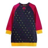 『小鱷魚童裝』愛心印花洋裝(02號~06號)532301