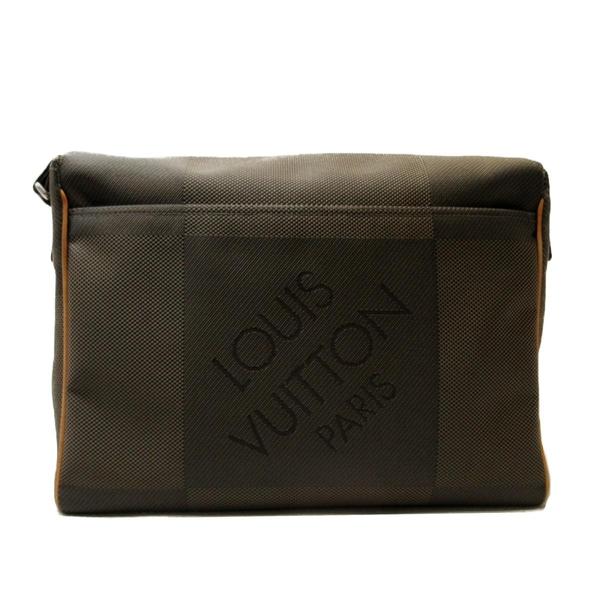 LOUIS VUITTON LV 路易威登 灰綠色帆布LV字樣掀蓋式斜背書包 Messenger NM BRAND OFF
