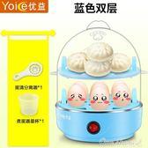 蒸蛋器自動斷電雙層煮蛋機多功能迷你單層雞蛋羹小型家用1人2 阿宅便利店