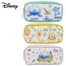 【日本正版】迪士尼 皮革 筆袋 鉛筆盒 化妝包 小熊維尼 史迪奇 愛麗絲 Disney 578163 578170 578187