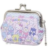 〔小禮堂〕Sanrio大集合 皮質口金零錢包《粉藍.派對》耳機包.收納包.掛飾 4522654-06515