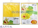 【雨眾不同】Disney 小熊維尼雨衣 成人雨衣 尼龍 Winnie the Pooh 黃