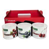 歐納丘莓果果乾3入禮盒(蔓越莓.晶鑽藍莓.櫻桃)