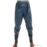 冬季加厚耐磨透氣齊腰下水褲半身成人男女連身雨鞋釣魚褲 新年禮物