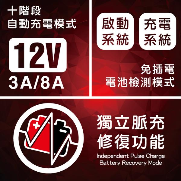 【CSP進煌】MT1200多功能智慧型充電器&檢測器/脈充 汽機車電池充電 雙電壓 3A 8A充電 檢測 修護