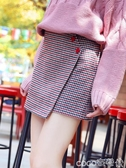 A字裙2020春季包臀裙子短款千鳥格半身裙女格子短裙A字裙 coco衣巷