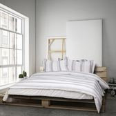 NUPPU 純棉色織《佐丹》床包(深灰色)四件組