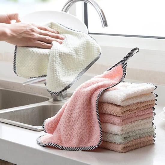 珊瑚絨 抹布 擦手巾 不掉毛 洗碗布 清潔布 可掛式 大掃除  珊瑚絨抹布(大)【N190】 生活家精品