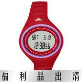 【台南 時代鐘錶 Adidas】愛迪達 ADP3180 多功能橢圓電子錶 37mm 紅 公司貨 開發票有保障