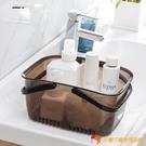 進口手提沐浴籃浴室洗澡籃收納籃塑料浴筐大容量游泳洗浴籃【小獅子】
