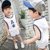 新款童裝兒童背心套裝1234567歲男童寶寶夏裝韓版潮衣小童夏  9號潮人館