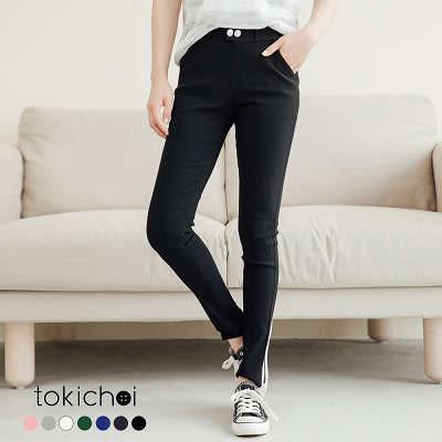 東京著衣-多色完美線條彈力貼身窄管褲-S.M.L(180656)