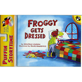 『繪本123‧吳敏蘭老師書單』-- FROGGY GET DRESSED / 書+CD 《主題: 幽默故事》