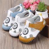 黑五好物節男童1-3歲寶寶涼鞋男女小公主軟底嬰兒學步鞋防滑透氣0-2歲包頭