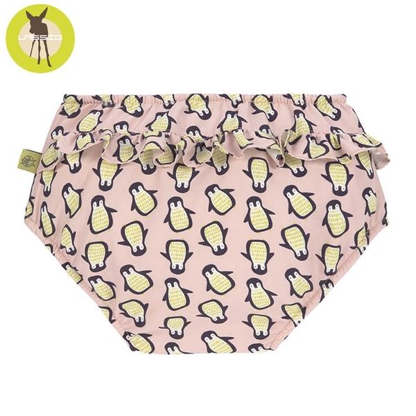 德國Lassig-嬰幼兒抗UV游泳尿布褲-粉企鵝