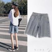 牛仔短褲女五分褲子2020年夏季新款高腰顯瘦騎行褲寬松闊腿中褲潮 第一印象
