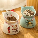 寵物碗 貓碗狗碗貓食盆陶瓷寵物保護頸椎高腳貓糧碗防打翻飯盆水貓咪用品