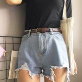年終慶85折 復古學生小皮帶簡約百搭韓國bf風裝飾細腰帶配裙chic女士牛仔褲帶 百搭潮品