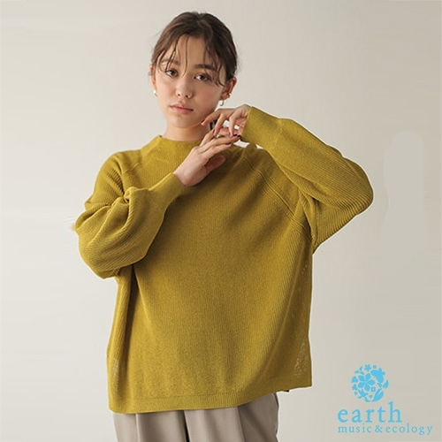 「Hot item」小高領針織上衣 - earth music&ecology