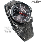 ALBA雅柏錶 極簡紳士 都會 防水錶 藍寶石水晶玻璃 不銹鋼 IP黑電鍍 男錶 AS9H41X1 VJ42-X268SD