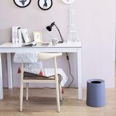 歐式北歐創意衛生間辦公室臥室客廳家用無蓋紙簍垃圾桶大號小號筒