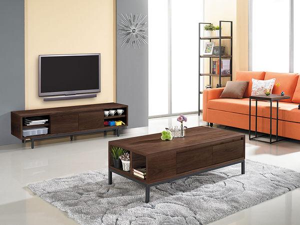 【森可家居】戈梅爾電視櫃 7JX188-1 長櫃 木紋質感 北歐工業風