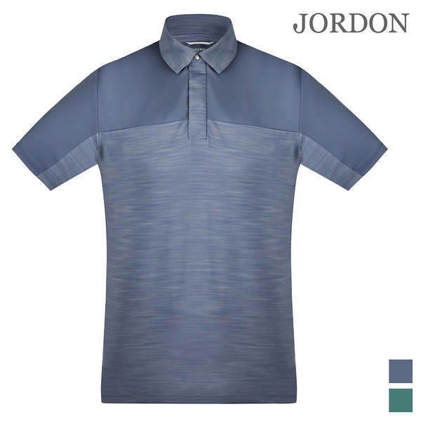 JORDON橋登 吸濕快乾透氣 男款 配色短袖涼感POLO衫 28221灰藍