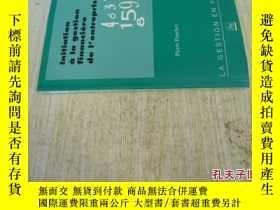 二手書博民逛書店法文原版罕見Initiation à la gestion financière de l entreprise