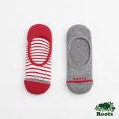 Roots-配件- 條紋隱形襪 (女) - 灰色