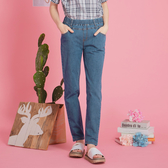 【中大尺碼】MIT竹節紋百搭牛仔長褲