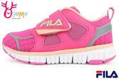 FILA運動鞋 女童鞋 反光系列 輕量 透氣 慢跑鞋M7677#桃紅◆OSOME奧森童鞋/小朋友