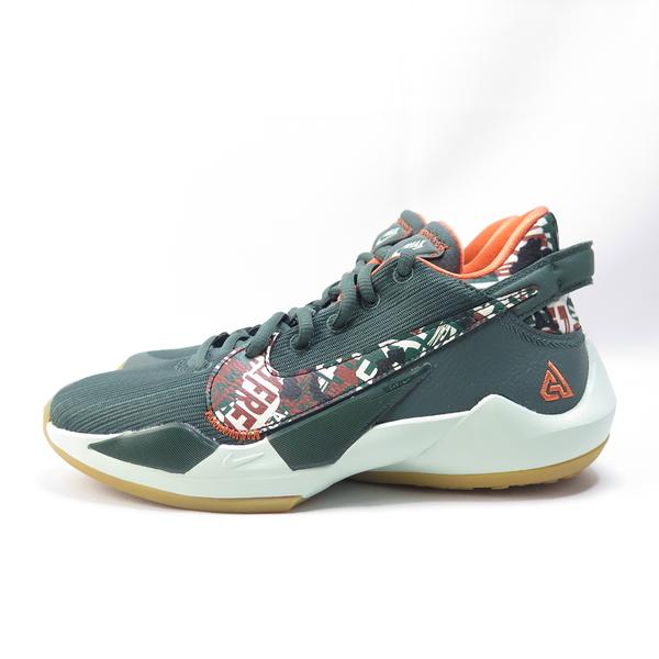 NIKE FREAK 2 (GS) 籃球鞋 DD0012300 大童 綠橘【iSport愛運動】