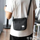 包包日系男生斜背包潮流韓版新款男帆布背包單肩休閒百搭學生小包 可然精品