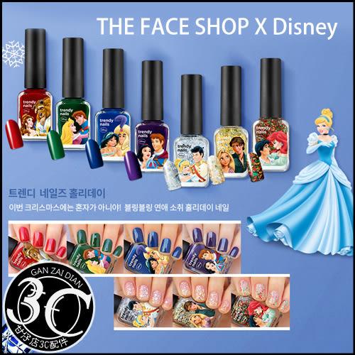 【即期品】韓國 THE FACE SHOP X Disney 迪士尼 聯名 公主 王子 系列 時尚 指甲油 7ml 甘仔店3C配件