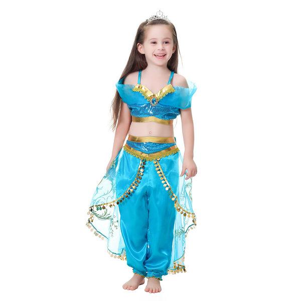 萬聖節服裝 公主 角色扮演 套裝 兩件式 (不含皇冠) 橘魔法 萬聖節 現貨 女童 扮演 裝扮
