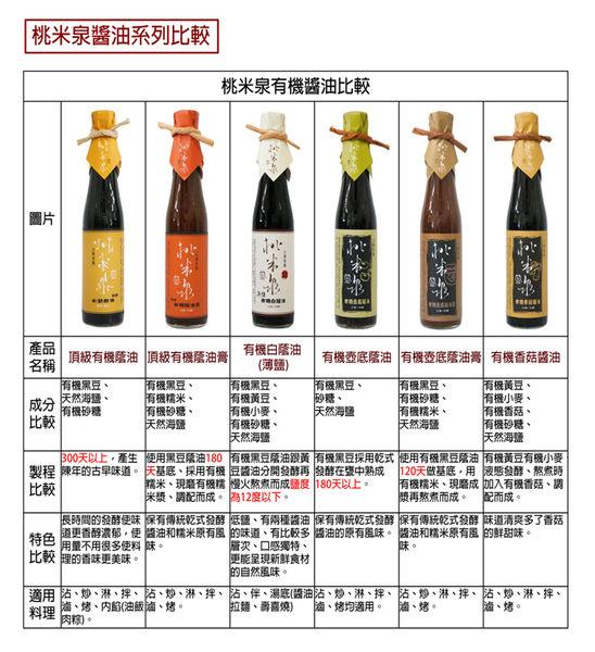 【桃米泉】有機壺底蔭油410ml (二入組)
