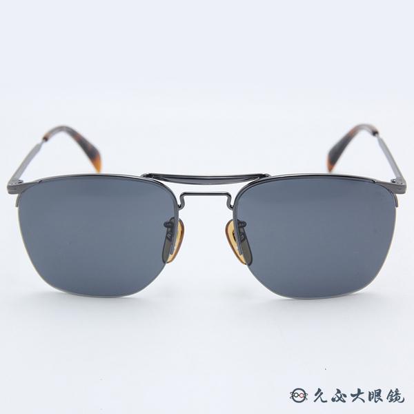 DB EYEWEAR 貝克漢設計品牌 DB 1001S (鐵灰) 雙槓 太陽眼鏡 久必大眼鏡